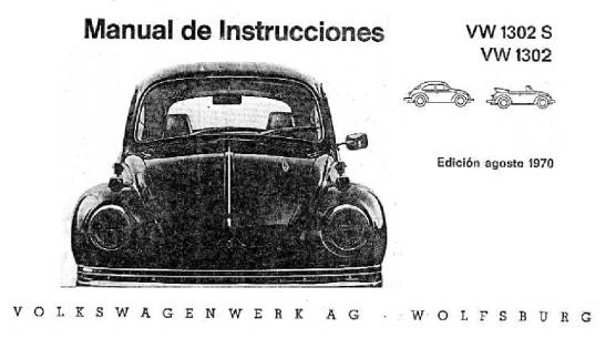 1970 - VW 1302 y 1302S