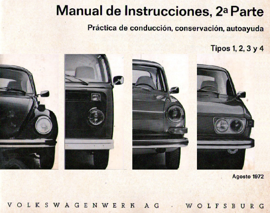1972 - VW Tipos 1,2,3,4
