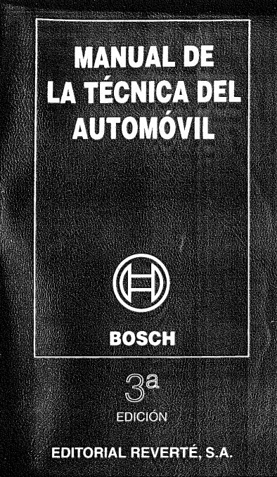 Bosch - Manual de la Tecnica del Automovil - Tercera Edicion