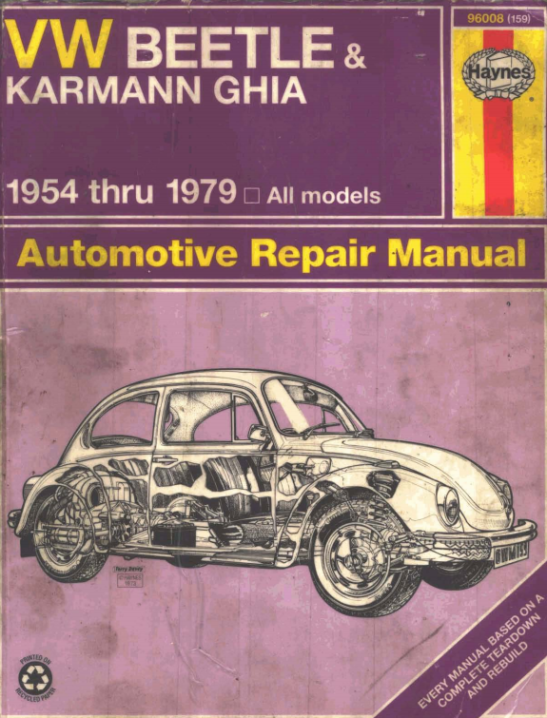 Volkswagen Beetle Owner's Manual