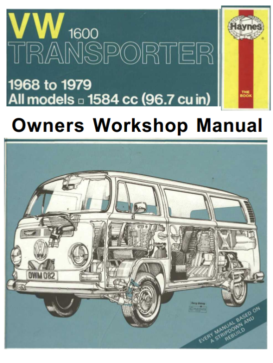 Haynes-Volkswagen-1600-Transporter-Owners-Workshop-Manual-1968-1979