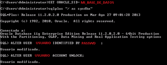Oracle - expired locked user