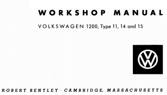 Robert-Bentley-Workshop-Manual-Volkswagen-1200-Types-11-14-15