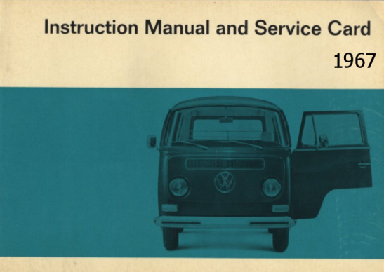 Volkswagen-Transporter-1967-Instruction-Manual-and-Service-Card-57-pags-en-ingles