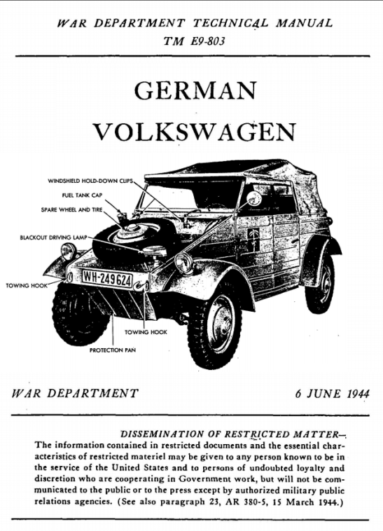War-Department-Technical-Manual-German-Volkswagen