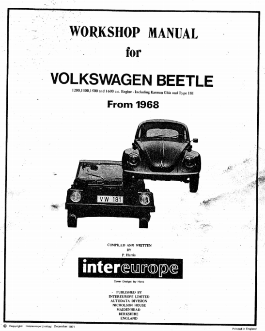 Workshop_Manual_for_Volkswagen_Beetle_From_1968_InterEurope_Limited_72_pags_en_ingles