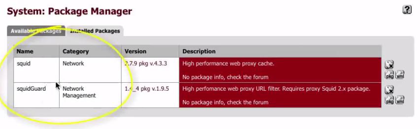 PFSense – Procedimiento para Filtrado de Páginas (Proxy) con