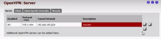 PFSense OpenVPN Site to Site 03