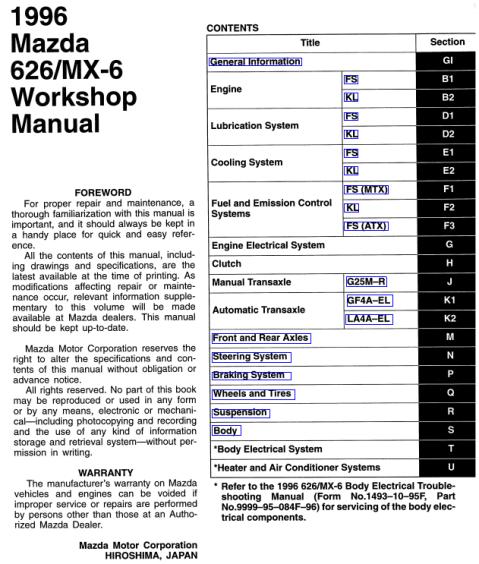Excelentes Libros Sobre El Mazda 626 Ge  M U00e1s Conocido En