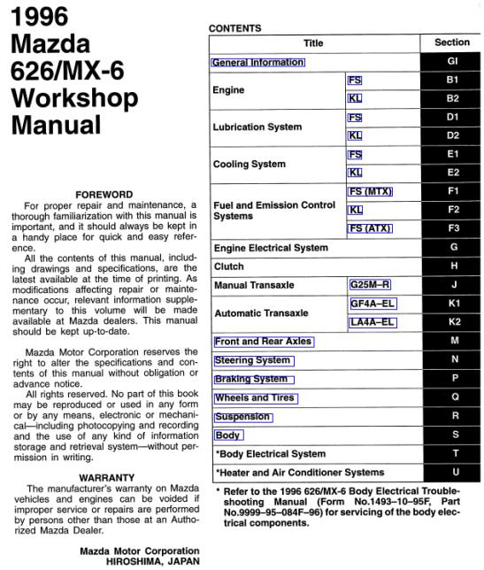 Mazda-626-GE-Matsuri-Workshop-Manual