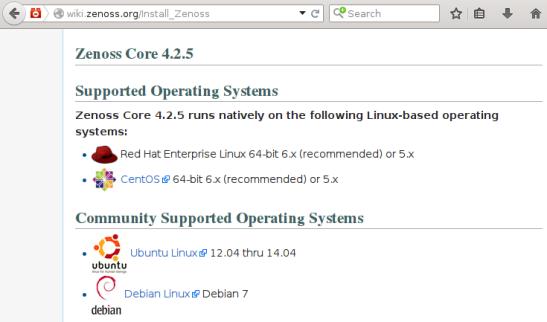Zenoss 4 - Sistemas Operativos Soportados
