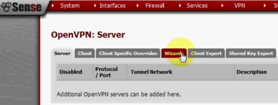 PFSense OpenVPN ROAD WARRIOR 12